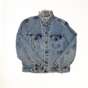 True vintage distressed Levis denim jean jackets